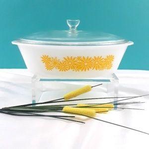 Glasbake Oval Casserole - Milkglass Ovenware